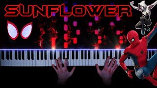 Post Malone, Swae Lee - Sunflower (Spider-Man: Into the Spider-Verse) - piano cover | tutorial mp3