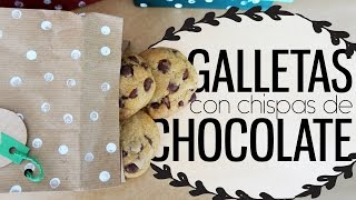 Galletas con chispas de chocolate para regalar | Mariana Clavel