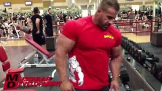 JAY CUTLER - CHEST AND TRICEPS WORKOUT 11 DAYS OUT UPDATE 2013 MR OLYMPIA