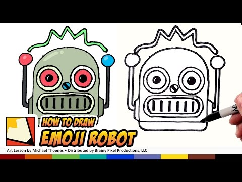 How to Draw Emojis Robot Emoji for Beginners Step by Step | BP