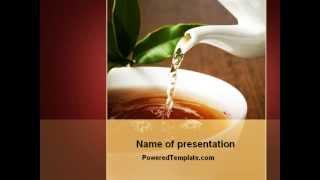 Stream Of Tea PowerPoint Template by PoweredTemplate.com