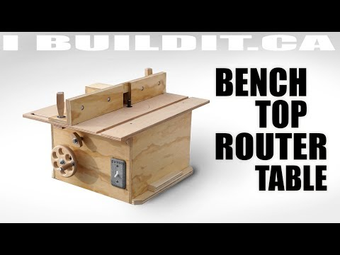 Router table building plan worldnews bench top router table build greentooth Choice Image
