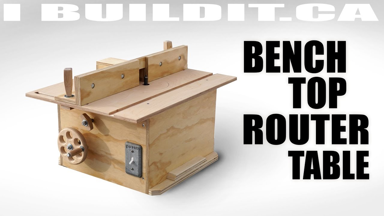 Bench top router table build youtube bench top router table build greentooth Choice Image
