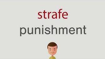 Wie heißt strafe auf englisch