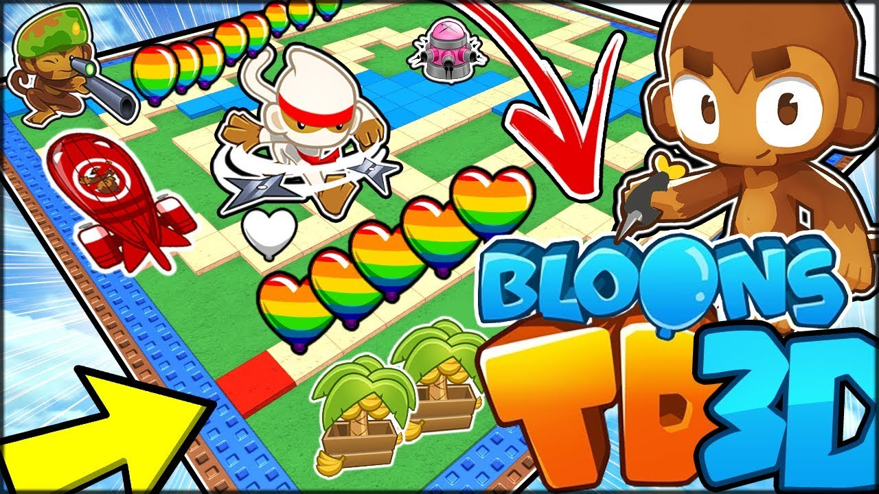 PLAYING THE NEW BLOONS TD BATTLES 3D?? PYRO TOWER!!   Bloons TD Battles 3D  Hack/Mod (Roblox)