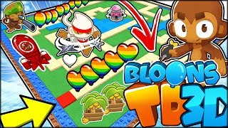 PLAYING THE NEW BLOONS TD BATTLES 3D?? PYRO TOWER!! | Bloons TD Battles 3D Hack/Mod (Roblox)