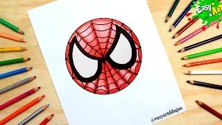 SPIDER MAN│Cómo Dibujar Logo del Hombre Araña│How to draw spider man logo
