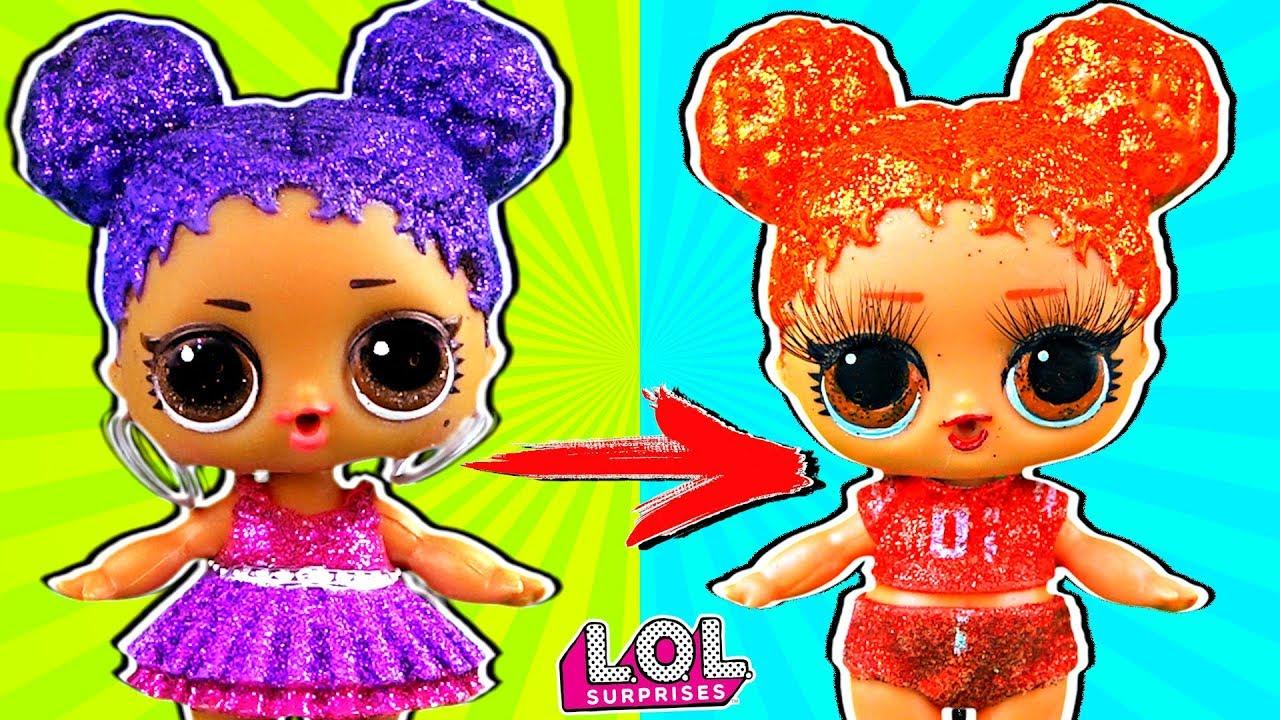 Панки в шоке от трансформации куклы лол сюрприз в салоне ...