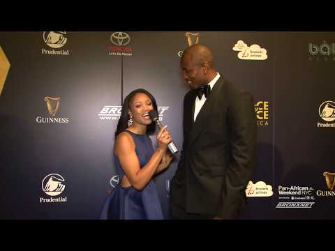 Serge Ibaka- FACE List Awards Red Carpet Interview