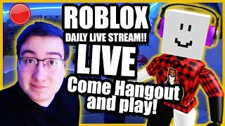 Roblox LIVE Stream RIGHT NOW! Come hang out, and JOIN! (Clean)