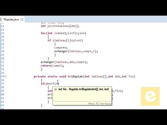 Java : Tri Rapide