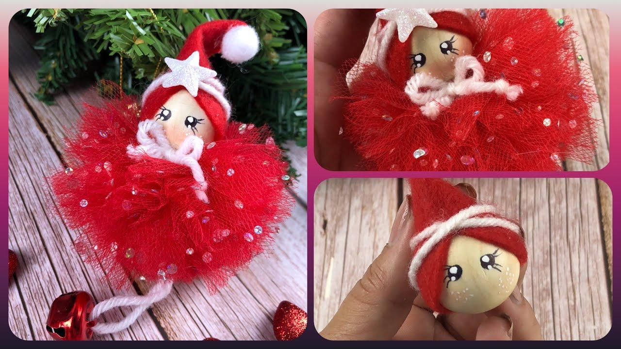 Guarda come è facile realizzare una decorazione di Natale con un pompom #384