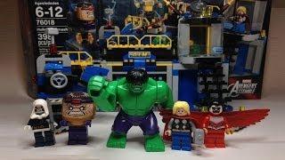 LEGO Marvel Super Heroes Avengers Hulk Lab Smash Review 76018