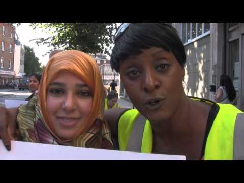 PCS DWP North London Branch protest - Marylebone Job Centre