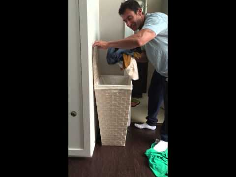 How to put your clothes IN the hamper. Instructional Chore Video