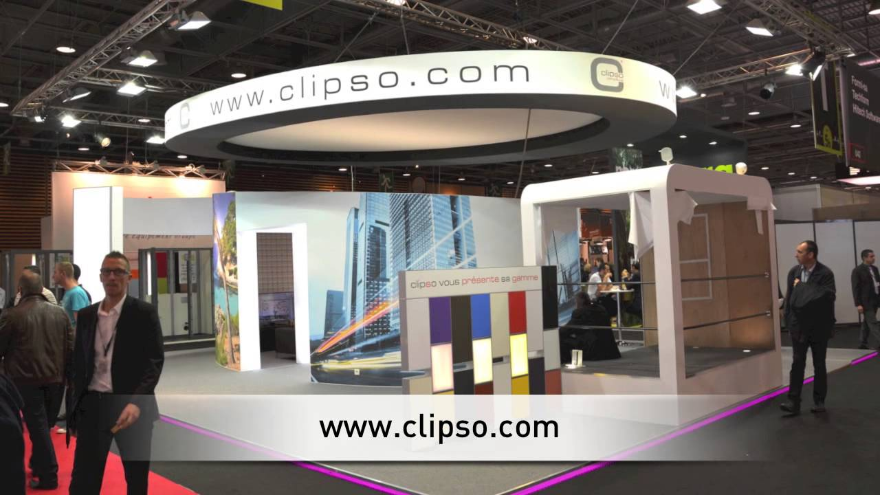 L 39 espace zoom lounge le stand clipso batimat 2013 youtube for Espace stand