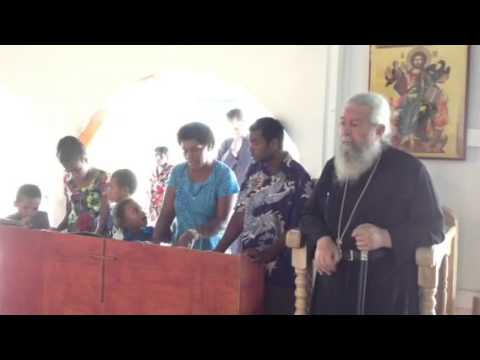 Chanting at the Greek Orthodox Sacred Mission Center, Fiji - Part 2
