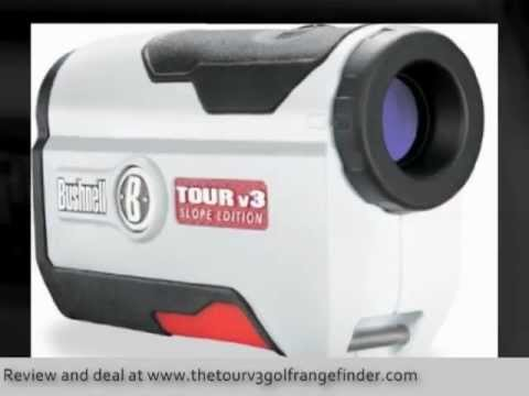 Golf Entfernungsmesser Tour V3 : Bushnell tour v golf laser rangefinder youtube