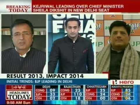 Semi-Final 2013: Counting of Votes Underway for Assembly Polls( Headlines Today 8-12-13)-Part-II