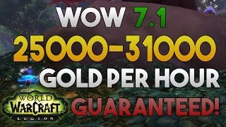 WoW Legion Gold Farming: 25000 - 31000 Gold Per Hour - Legion Gathering