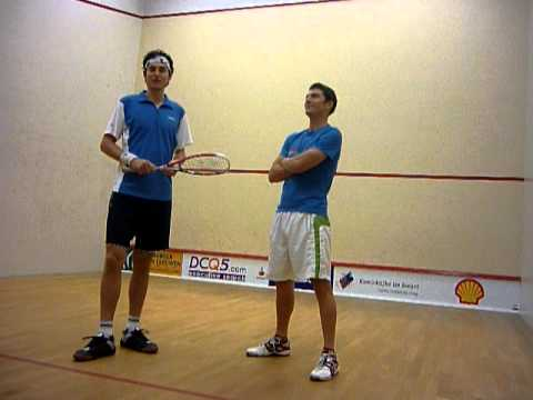 Taking a squash ball hit at 175mph!