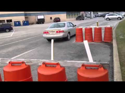 parallel parking instructions with cones