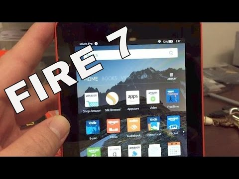 kindle fire 7 unboxing and review