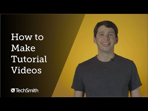 How to Make Tutorial Videos