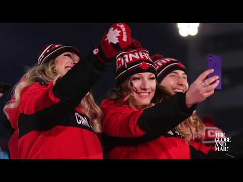 Canadian team arrives at Olympics opening ceremony