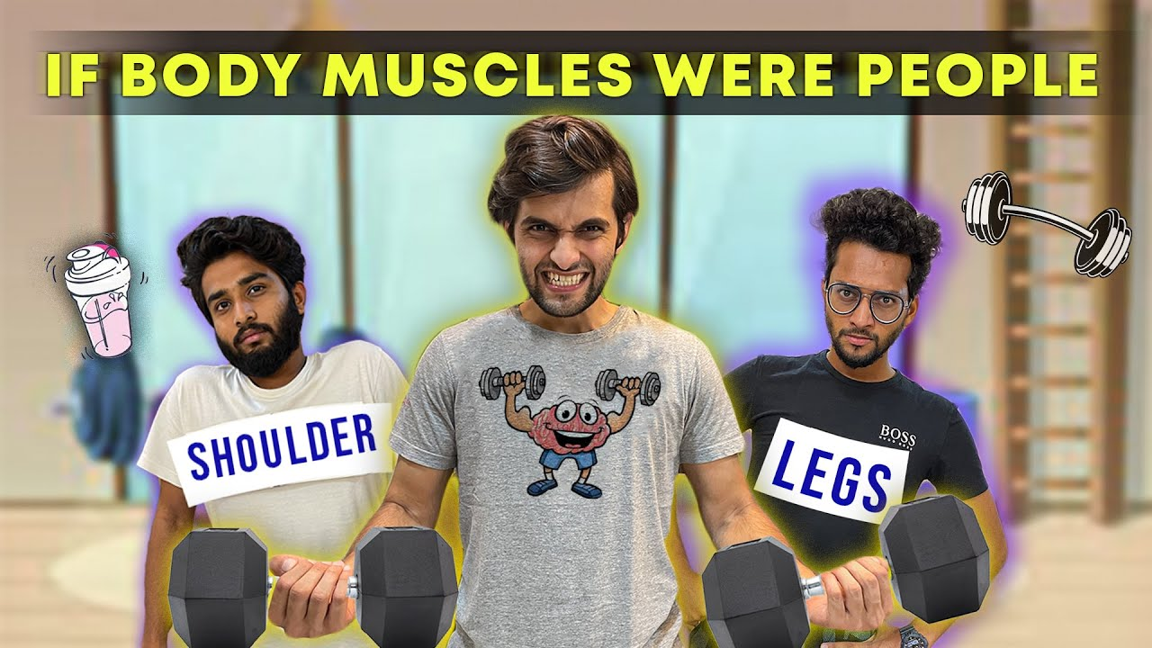 Download If Body Muscles Were People | Funcho