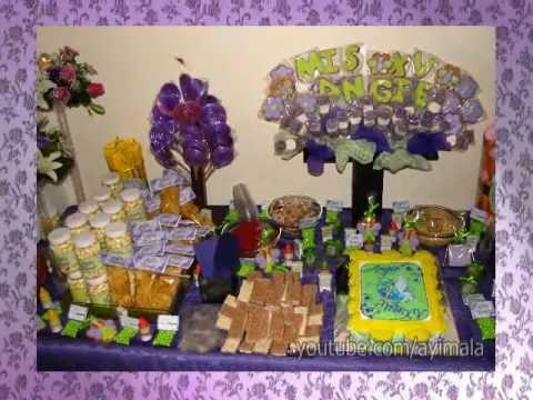 Xv a os angie monse centros de mesa mesa de dulces y for Mesa de dulces para 15
