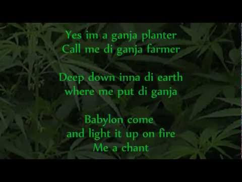 Marlon Asher - Ganja Farmer (Ganja Farmer Riddim) lyrics on screen