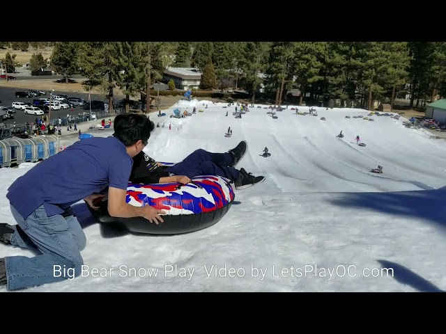 Snow Tubing at Big Bear Snow Play #liveitupbigbear AD