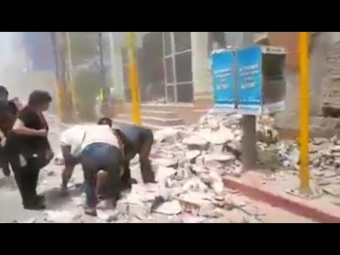 Mexico: Images of the moment 7.1 quake strikes Morelos state