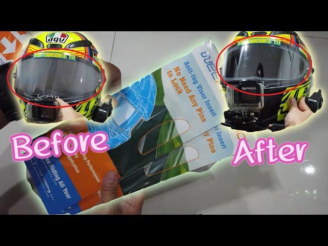 รีวิวกันฝ้าหมวกกันน็อค น้ำเดือดยังเอาอยู่ เจ๋งโคตร!! (WeePro Anti Fog Visor) - Motobigbike Thailand