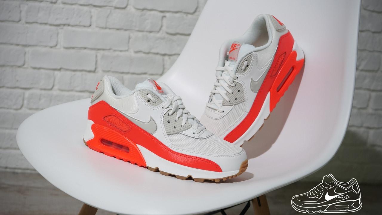 Nike Air Max 90 Essential Summit White Bright Crimson