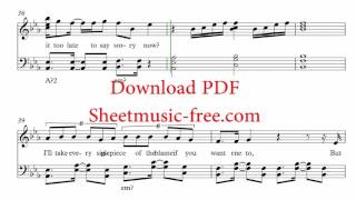 Sorry Sheet Music Justin Bieber Piano Sheet music Free PDF Download
