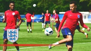 England one-touch football tennis in France (Euro-16) | Inside Training