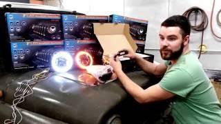 Тяжелая Техника: Обзор светодиодных фар на УАЗ 7  дюймов головной свет - установка 7 inch head light