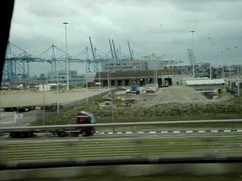 Shipping container terminals at Massvlakte I, the original port expansion