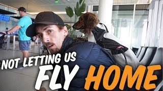 NOT LETTING US FLY BACK HOME - FLYING WITH ESA DOGS
