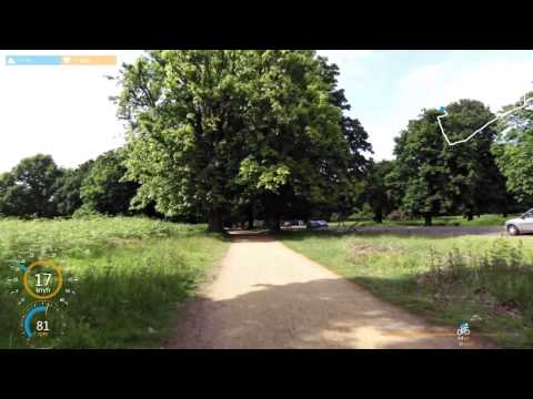 cycling in Richmond Park, London