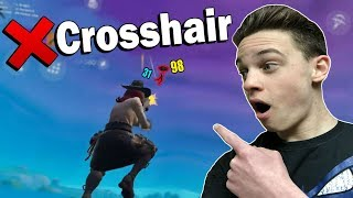 Using No Crosshair on Fortnite Mobile