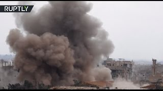 RAW  Syrian army fighting ISIS in Deir ez Zor
