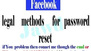 Facebook password reset without Email And Number 100  Working