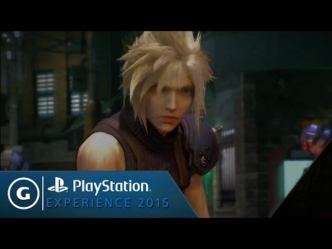 First Look at Gameplay in Final Fantasy VII Remake  PSX 2015
