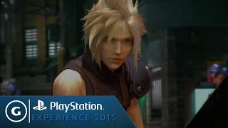 First Look at Gameplay in Final Fantasy VII Remake - PSX 2015