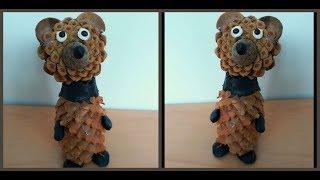 Медведь из шишек своими руками / Вear of pine cones diy
