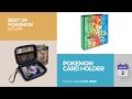 default - FitSand (TM) Travel Zipper Carry EVA Hard Case for Pokemon Trading Cards - Black Box, Blacker Box, Best Protection for Pokemon Cards