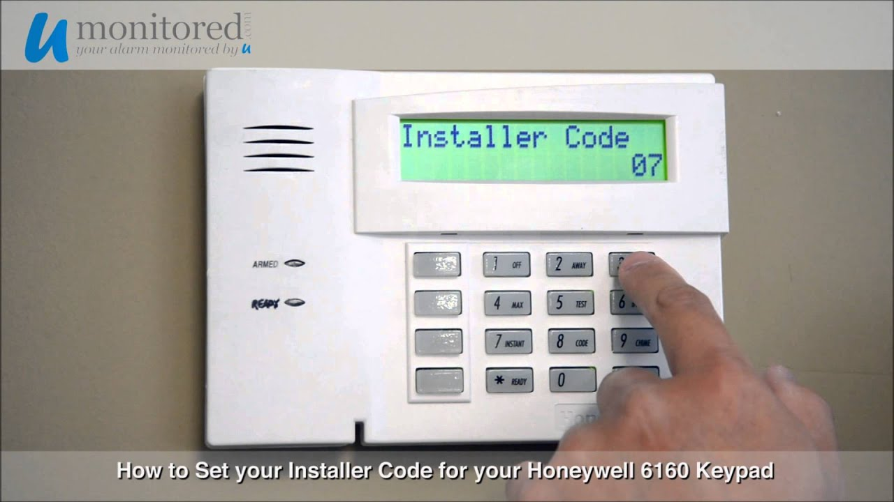 honeywell how to set your installer code youtube rh youtube com Honeywell K4392v2 User Guide ADT Honeywell Alarm Manual